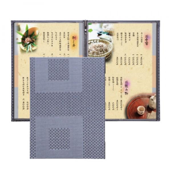 新和風菜單本-大格紋(A4-4P)